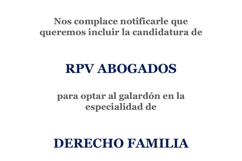 """Rpv abogados, propuesta como nominada a los """"premios de ley"""""""